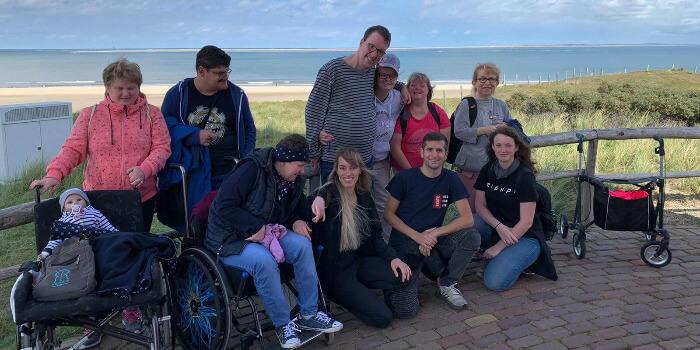 Gruppenfoto von unserer Reisegruppe in Texel